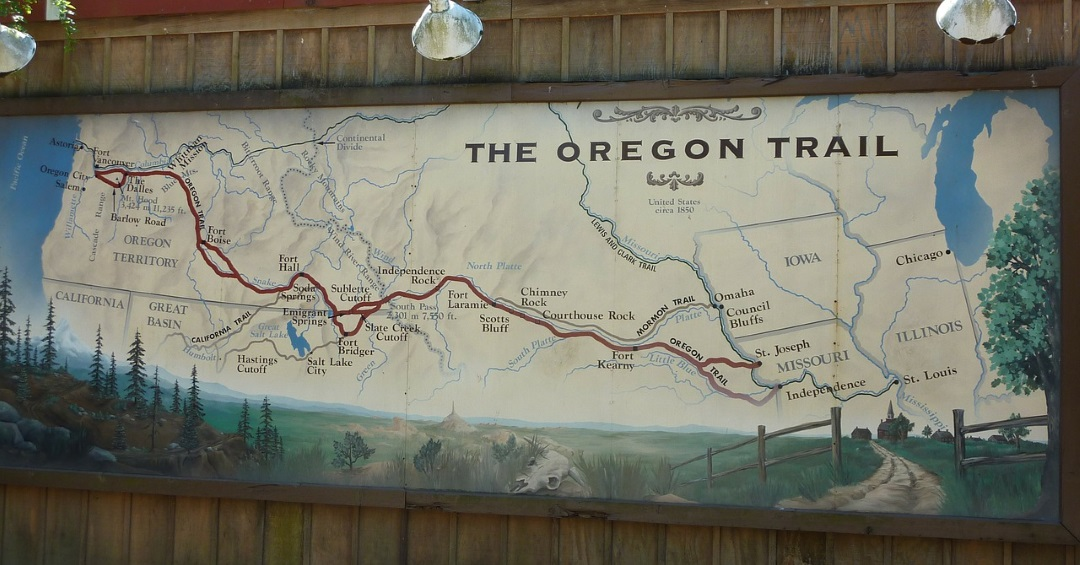 THE OREGON TRAIL BY BOOK